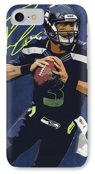 Russell Wilson 2 IPhone Case by Semih Yurdabak