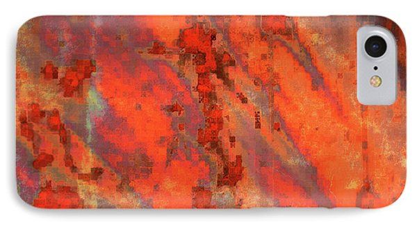 Rust Abstract Phone Case by Carol Groenen