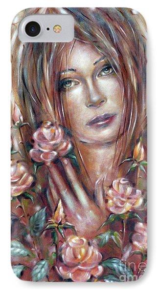 Sad Venus In A Rose Garden 060609 Phone Case by Selena Boron