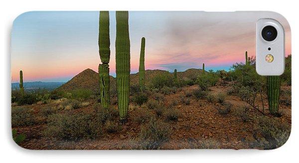 Saguaro Dusk IPhone Case by Mike Dawson