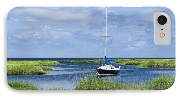Sailboat Salt Marsh IPhone Case by John Greim