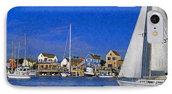 IPhone Case featuring the photograph Sailing Marina Del Rey Fisherman's Village by David Zanzinger