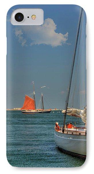 Sailing On Boston Harbor IPhone Case