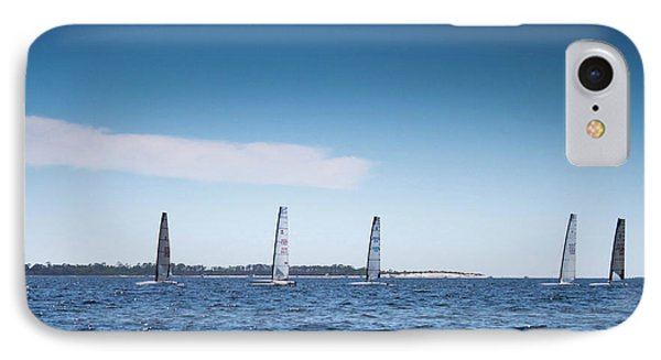 Sailing On The Bay IPhone Case by Debra Forand