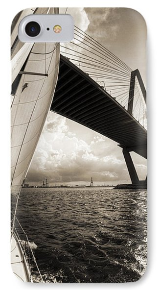 Sailing On The Charleston Harbor Beneteau Sailboat IPhone Case
