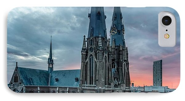 Saint Catherina Church In Eindhoven IPhone Case by Semmick Photo