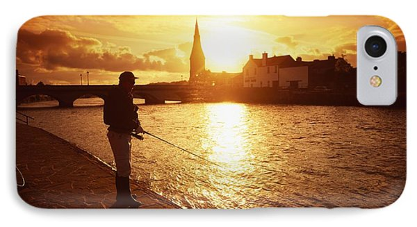 Salmon Fishing, Ridgepool, Ballina, Co Phone Case by The Irish Image Collection