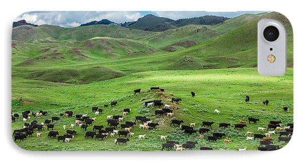 Cow iPhone 7 Case - Salt And Pepper Pasture by Todd Klassy