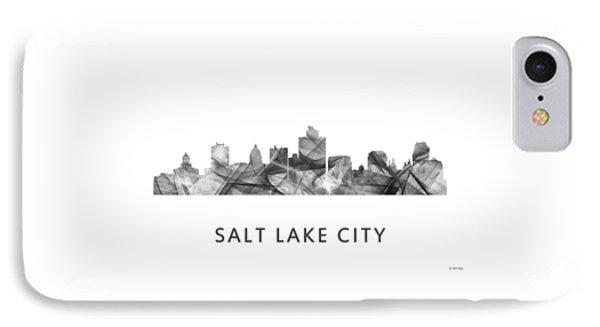 Salt Lake City Utah Skyline IPhone Case by Marlene Watson