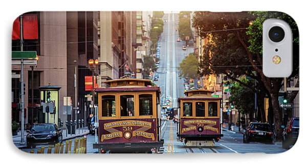 San Francisco Cable Cars IPhone Case by JR Photography
