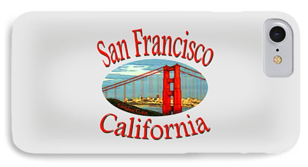 San Francisco California - Tshirt Design IPhone Case by Art America Gallery Peter Potter