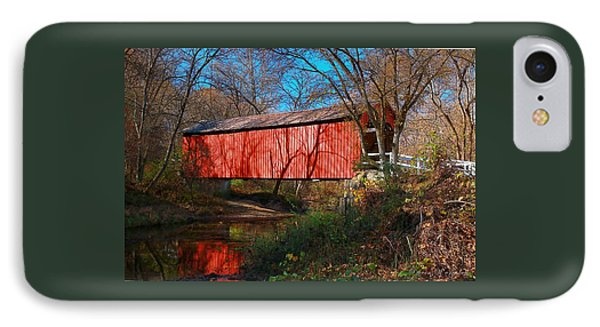Sandy /creek Covered Bridge, Missouri IPhone Case by Steve Warnstaff