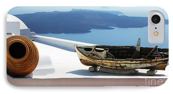 IPhone Case featuring the photograph Santorini Greece by Bob Christopher