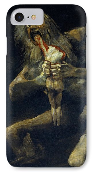 Saturn Devouring His Son IPhone Case by Francisco Goya