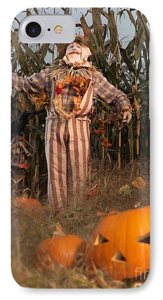 Scarecrow In A Corn Field IPhone Case by Oleksiy Maksymenko