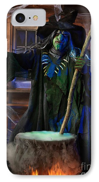 Scary Old Witch With A Cauldron Phone Case by Oleksiy Maksymenko