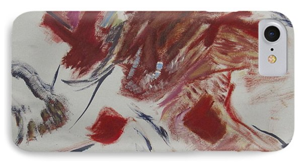 IPhone Case featuring the painting Scene Of The Crime by Patricia Cleasby