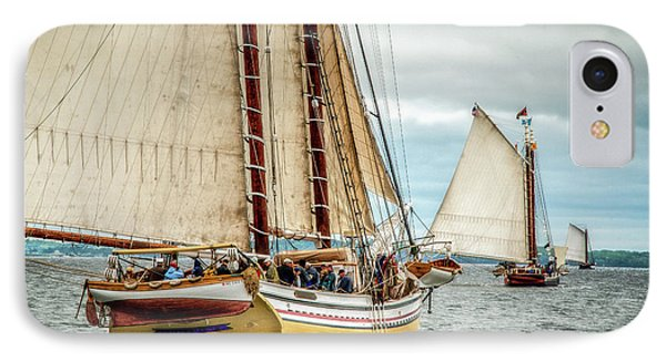 Schooner Race IPhone Case by Fred LeBlanc