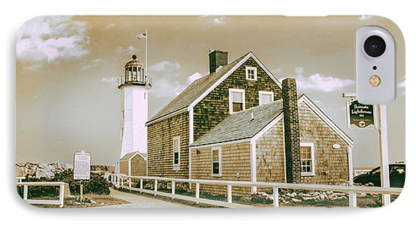 IPhone Case featuring the photograph Scituate Lighthouse In Scituate, Ma by Peter Ciro
