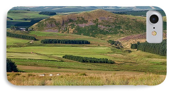 Scotland View From The English Borders IPhone 7 Case by Jeremy Lavender Photography