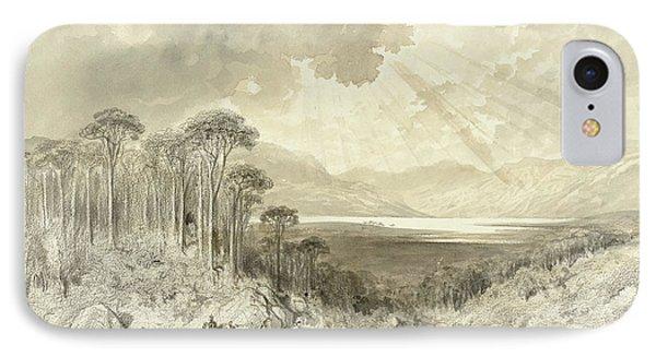 Scottish Landscape IPhone Case by Gustave Dore