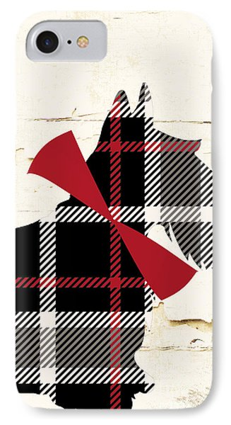 Scottish Terrier Tartan Plaid IPhone Case