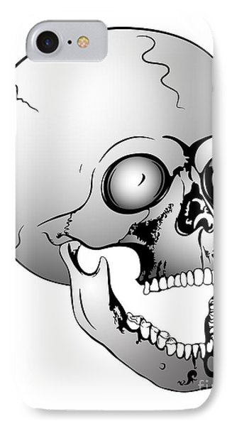 Screaming Skull Phone Case by Michal Boubin