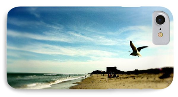 Seagulls At The Beach. IPhone Case by Carlos Avila