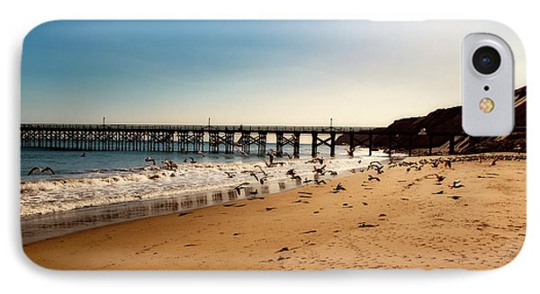 Seagulls On The Beach IPhone Case by L O C