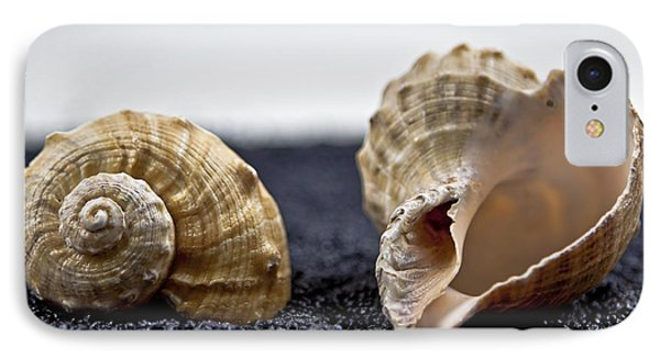 Seashells On Black Sand IPhone Case by Joana Kruse