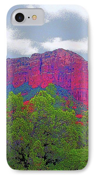 Sedona Red Rock Mountain Image IPhone Case