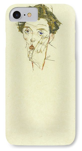 Self Portrait IPhone Case by Egon Schiele