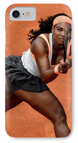 Serena Williams 4 IPhone Case by Dani Pozo