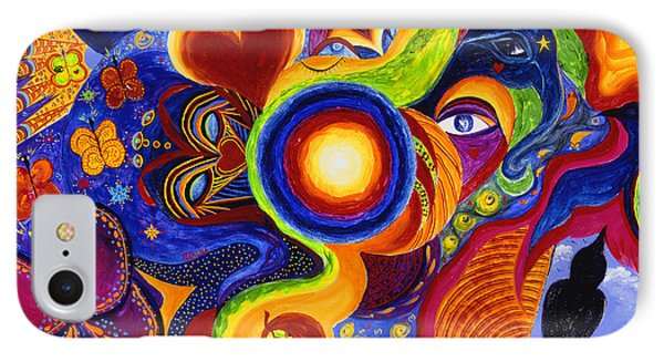 IPhone Case featuring the painting Magical Eclipse by Marina Petro