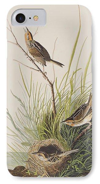 Sharp Tailed Finch IPhone 7 Case by John James Audubon