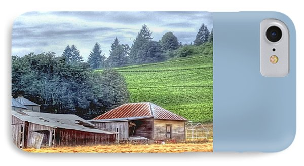 Shed And Grain Bins 17238 IPhone Case by Jerry Sodorff