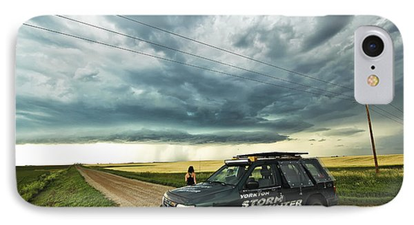 Shelf Cloud Near Vibank Sk. IPhone Case by Ryan Crouse