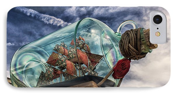 Ship In A Bottle IPhone Case by Martin Newman