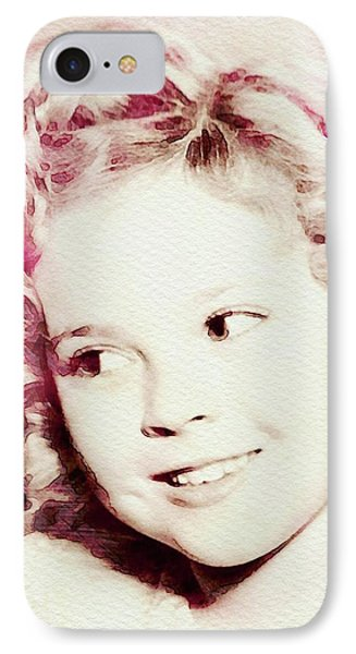 Shirley Temple iPhone 7 Case - Shirley Temple, Vintage Actress by John Springfield