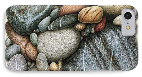 Shore Stones 3 Phone Case by JQ Licensing