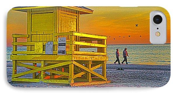 Siesta Key Sunset Phone Case by Dennis Cox WorldViews