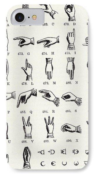 Sign Language Alphabet IPhone Case by English School