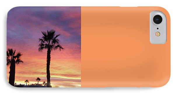 Silhouetted Palm Trees IPhone Case by Robert Bales