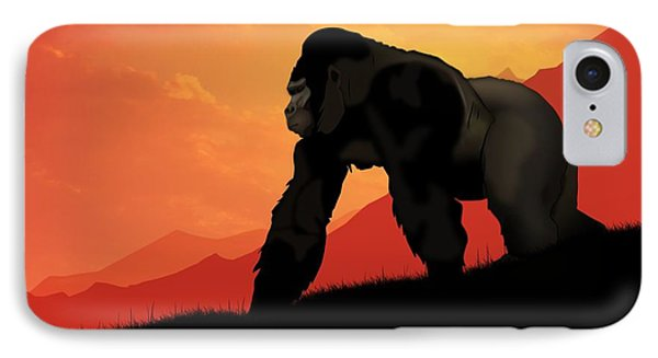 Silverback Gorilla IPhone Case by John Wills