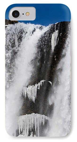Skogarfoss Waterfall In The Winter IPhone Case by Panoramic Images