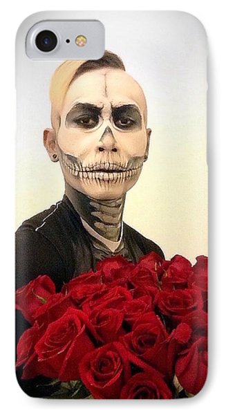 Skull Tux And Roses Phone Case by Kent Chua