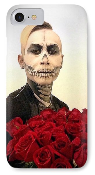 Skull Tux And Roses IPhone 7 Case by Kent Chua