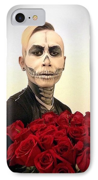 Skull Tux And Roses IPhone Case by Kent Chua
