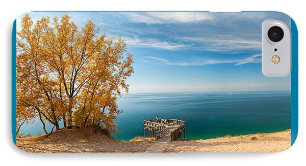 Sleeping Bear Overlook IPhone Case by Larry Carr
