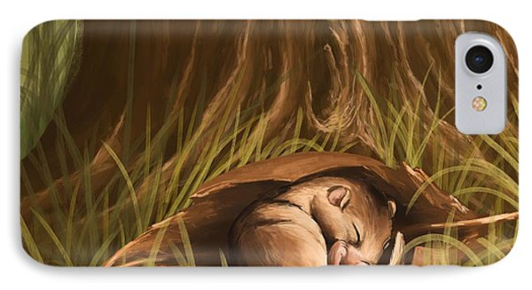 IPhone Case featuring the painting Sleeping  by Veronica Minozzi